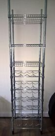 Ikea OMAR shelving unit with bottle rack
