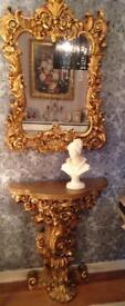 Rococo Console Table and Mirror