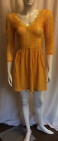 New Beautiful Orange Summer Dress Size 8-10