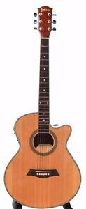Acoustic Electric Guitar Natural iMusic225 installed EQ 40 inch Full size