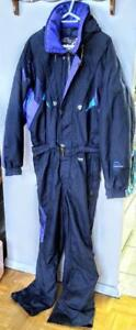Oakville MENS XL Ski Suit Snowboard Vintage One-Piece 46 48 Tall Navy Sun Ice Great Quality Nylon