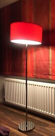 Pagazzi Red Circular Shade Floor and Table Lamps