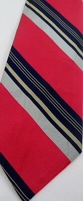 1960s – 70s Men's Ties | Skinny Ties, Slim Ties MWT 1960s Elder Beerman Dayton OH Prep School Red Blue Stripe Necktie Tie RETRO $7.88 AT vintagedancer.com