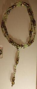 Collier en perles de verre / Glass Bead Necklace West Island Greater Montréal image 1
