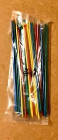 30 Piece Classic Plastic Pick Up Sticks Set. Complete And Unused.