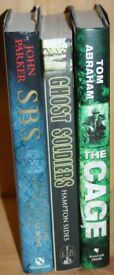 3 x Warfare books in excellent condition ( Ghost soldiers, The Cage & The History of SBS)
