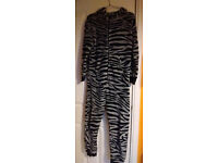 """Next """"Zebra"""" Onesie with tail. Age 12 (height 152cm). Gorgeous. Suit boy or girl."""
