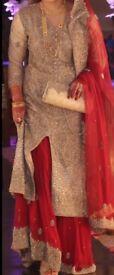 Designer Asian bridal wedding dress great condition