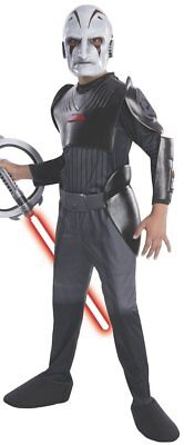 Sith Inquisitor Costume (Boys Child SITH INQUISITOR Star Wars Rebels Licensed Deluxe)