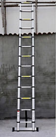**BRAND NEW BOXED** 5.2m ALUMINIUM MULTI PURPOSE TELESCOPIC EXTENDABLE LADDER STABILISER HOME WORK