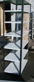 Wide and Narrow free standing steel shelving