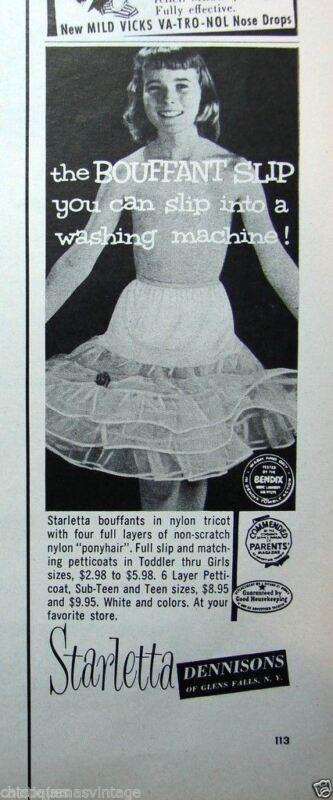 VTG Little Girls Starletta Petticoat Full Slip NOS  Original Package 1950s SZ 1