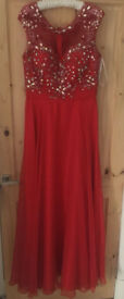 Red Prom dress size 14
