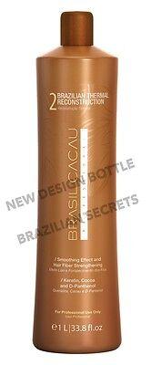 "BRASIL CACAU BRAZILIAN KERATIN TREATMENT BLOW DRY HAIR STRAIGHTENING 1L STEP ""2"""