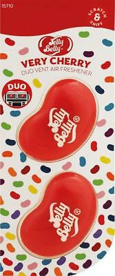 Cappucino Cherry (1 x Twin Pack 3D JELLY BELLY Vent DUO Bean Gel VERY CHERRY Air Freshener MC18)