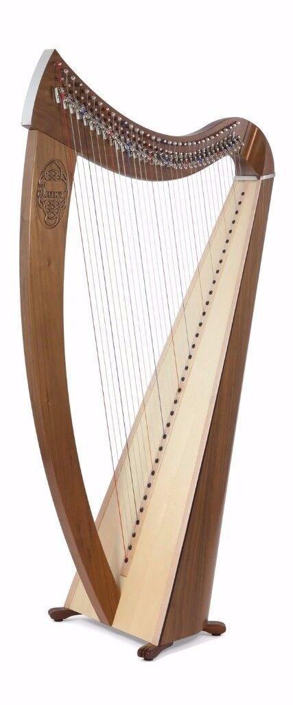 Camac Janet Harp with 34 Strings In Walnut