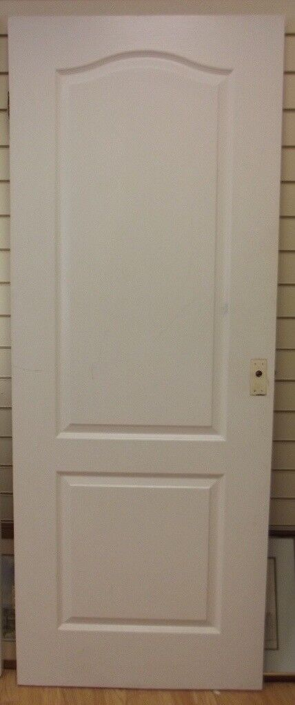 White Classique 2 Panel Moulded Internal Door With Handles Hinges