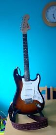 20th Anniversary Squier Affinity Strat / Stratocaster Electric Guitar In Sunburst