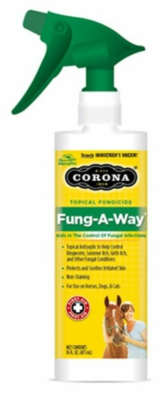 CORONA Fung A Way 16 oz Spray Equine Horse Fungicide for Ringworm Summer Itch