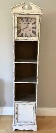 Freestanding clock - cupboard and shelves