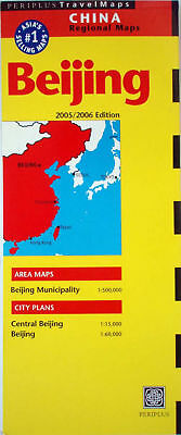 NEW 2006~MAP OF BEIJING~Periplus Map w/Detail of Central Beijing & Index