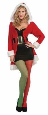 Green Fishnet Tights (Red & Green Fishnet Stockings Pantyhose Tights Christmas Elf Costume Adult)