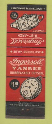 Matchbook Cover - Ingersoll Watches Yankee Pocket Watch