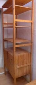 Ikea wooden Ivar Shelf unit with cabinet