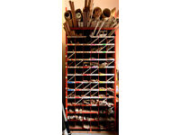 Beading rack with 78 pigeon holes, 2.4m long ideal for DIY store or Builders Merchants