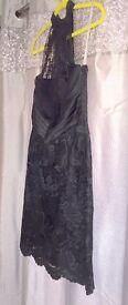 14. Black lacy Halter neck dress - size 12 - Karen Millen - Asking Price £35 ono