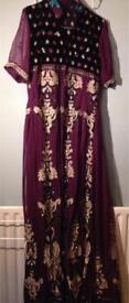 Embellished purple wedding gown