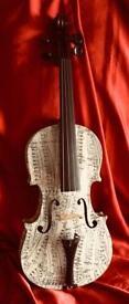 Vintage 4/4 CELBRE VOSGIEN Violin with Decopatch finish
