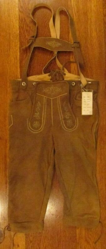 GERMAN BAVARIAN LEDERHOSEN PURE LEATHER YOUTH TRACHTEN WEAR OKTOBERFEST