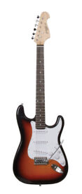 Johnny Brook Stratocaster Sunburst + bag and GM01 digital Tuner