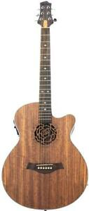 "Christmas Gift !  """"Free Shipping !!"""" Nice Look ! Acoustic Electric Guitar Unique style 40 inch Walnut iMG845EQ"