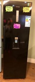 BRAND NEW SAMSUNG TALL LARDER FRIDGE IN BLACK WITH WATER DISPENSER ABSOLUTE BARGAIN ..!!!