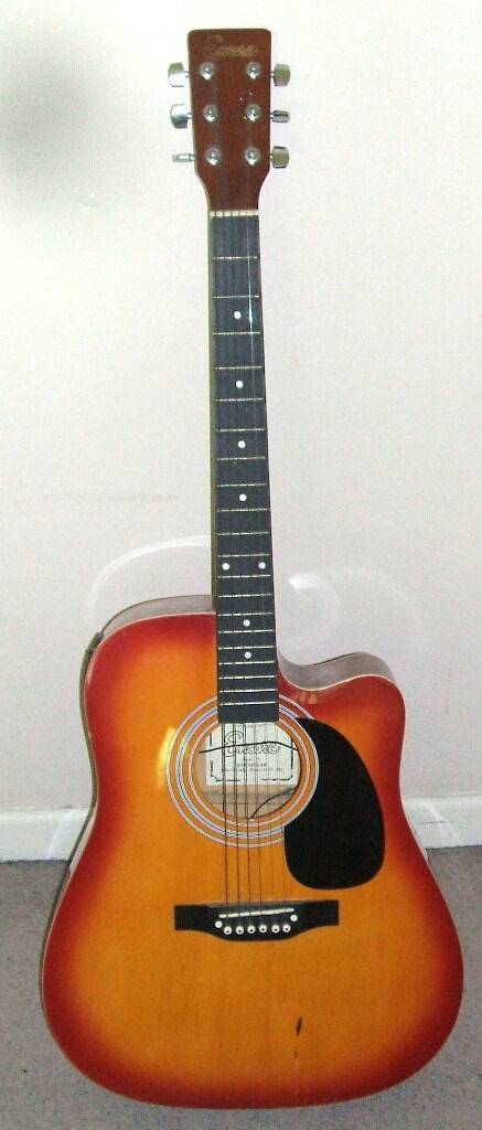 Encore ENC165EAR electro acoustic guitar Full size Good conditionin Poole, DorsetGumtree - Encore electro acoustic guitar in good condition.... One or two marks from use,but no damage and all round in pretty good order...... Model ENC165EAR....... Suit beginner