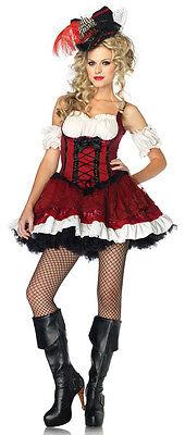 Leg Avenue Ravishing Rogue Sexy Pirate Wench Adult Costume -M(8-10)-Peasant -NEW - Leg Avenue Pirate Wench Costume