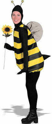 ADULT WOMENS YELLOW BUMBLE BEE BUMBLEBEE HONEYBEE LADY ANIMAL COSTUME 54122