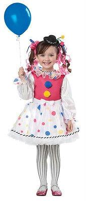 Cutsie Clown Toddler Girls Costume Size