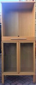 Ikea High Oak Display Cabinet Glass Shelves (New Lower Price!)