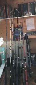 Boat fishing rods and reels