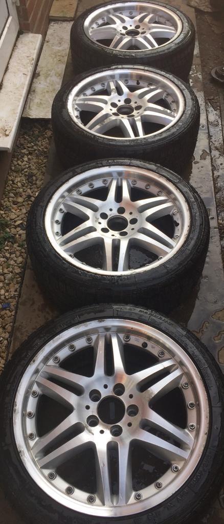 18 mercedes amg split rim style w 6 7mm nankang tyres. Black Bedroom Furniture Sets. Home Design Ideas