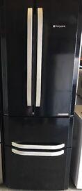 Black Double Door Hot Point Fridge Freezer