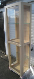NEXT - Solid Wood & Glass Display Cabinet