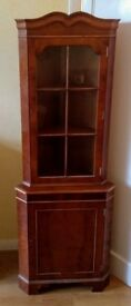 Antique reproduction Mahogany corner cabinet