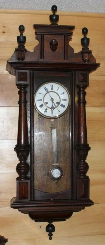 Antique Vienna Style Regulator Clock ~ German Black Forest ~ 1800