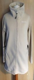 Ladies/womens Bench cream long length jacket/cardigan with funnel neck size L