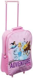 Disney Princess Trolley Travel Bag Kids Pink Holdall Wheeled Suitcase Luggage