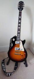 Bucker by Epiphone - Les Paul Standard Pro - Guitar + Stand [Plus various picks & strap]